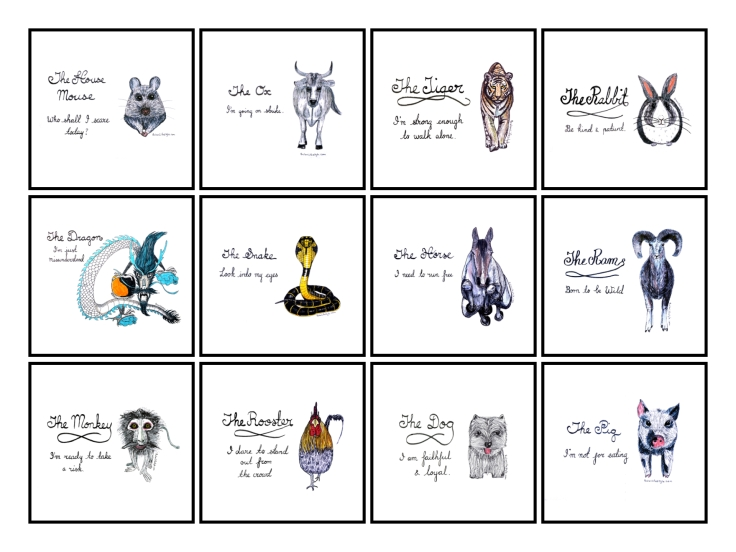 The complete Chinese Zodiac by BulanLifestyle.com. Which animal are you?