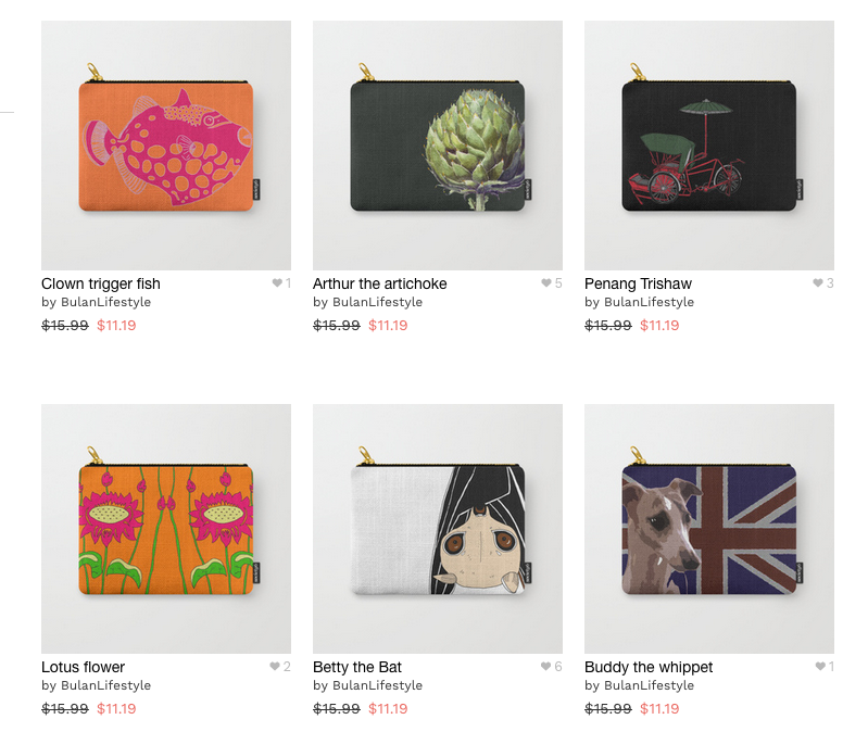 Society 6 pouches