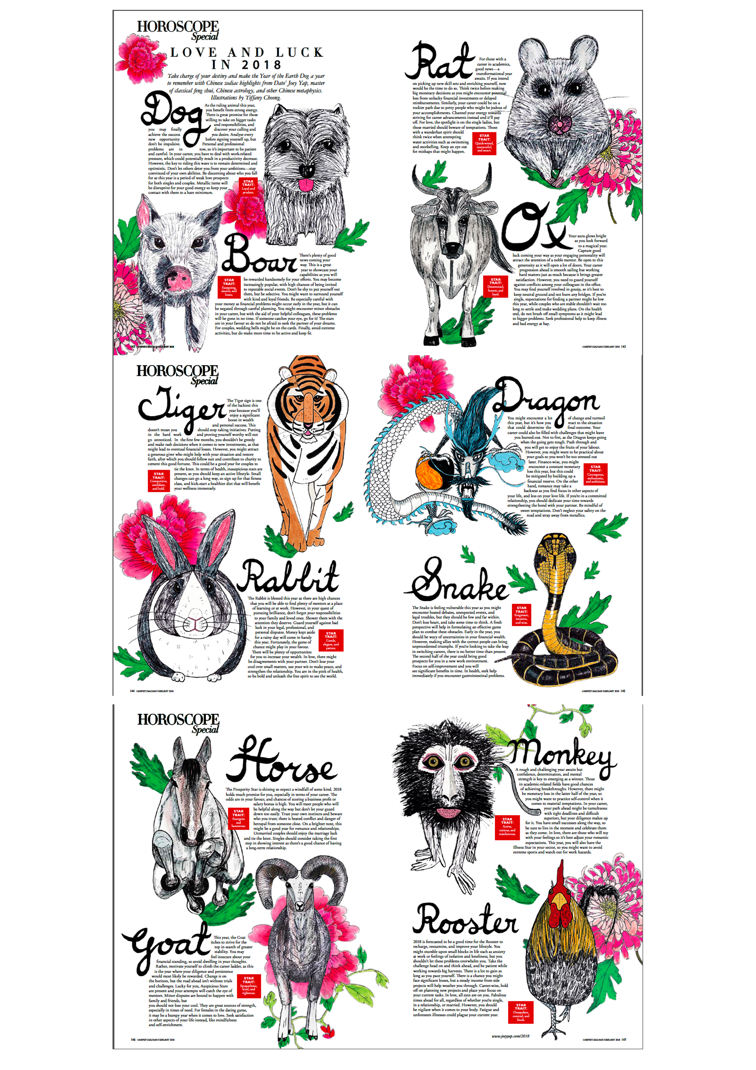 Harpers bazaar zodiac Feb 2018