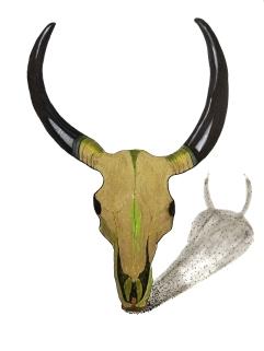 Gold Goat Skull