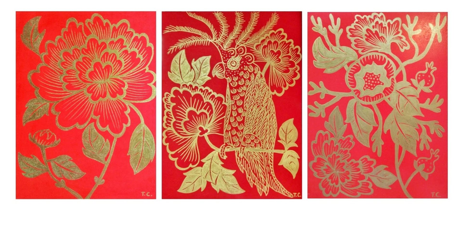 REd and gold MDF